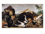 Bear Hunt Or, Battle Between Dogs and Bears - Paul De Vos