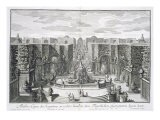 German Watergarden, from 'Furstlicher Baumeister', engraved by Karl Remshard - Paul Decker
