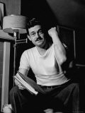 Writer and Director Preston Sturges, in White Tee Shirt, Showing Cut on Arm - Paul Dorsey