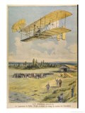 Wilbur Wright Demonstrates His Flying Machine Over the Racecourse - Paul Dufresne