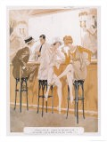 Two Flappers Gossip at a Bar - Paul Fournier