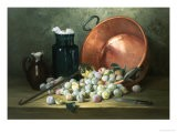 Still Life of Plums and Jam-Making Utensils - Paul Gagneux