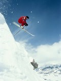 Airborne Alpine Skier, Crested Butte, CO - Paul Gallaher