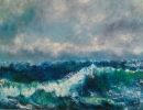 Peinture d'art - Vague au vent