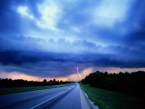 Lightning over the Bee Line Expressway, East of Orlando - Peter Krogh