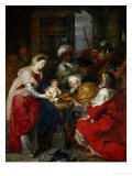Adoration of the Magi (stained glass) - Peter Paul Rubens