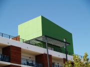 photo architecture : cube vert