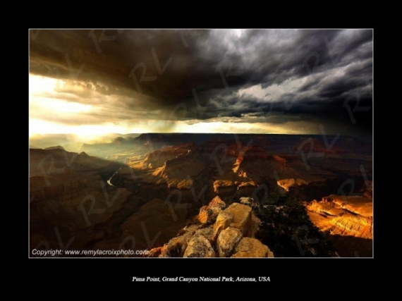 PHOTO Grand Canyon Arizona Pima Point désert Paysages  - The storm ! Grand Canyon !