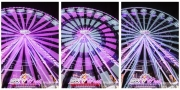 photo lumieres couleurs light painting grande roue : Métamorphoses