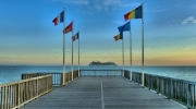 photo paysages architectures mer paysages : L'estacade de Sainte-Adresse au Havre