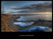 photo paysages ocean mer reflets plage : La Mare aux Marchands