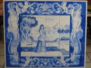 photo personnages azulejos carrelages marquise portugal : marquise