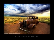 photo scene de genre cars voiture wreck arizona : Old wreck ! Route 66 !