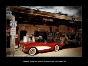 photo scene de genre route 66 corvette hackberry mother road : Route 66, Hackberry Trading Post