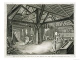 """Glassmaking Factory, from the """"Encyclopedia"""" - Radel"""