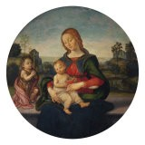 Madonna and Child with the Infant Saint John - Raffaellino Del Garbo
