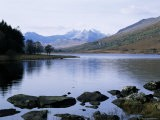 Llyn Mynbyr in the Early Morning, with Snowdonian Mountains Behind, Capel Curig, North Wales - Raj Kamal