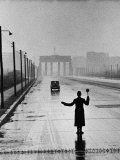 Automobile Arriving from the Eastern Sector of Berlin Being Halted by West Berlin Police - Ralph Crane