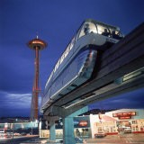 Monorail at Century 21, Seattle World's Fair. Space Needle in Background - Ralph Crane