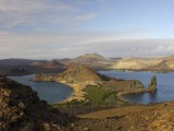 Scenic View of a Crater-Type Lake in the Galapagos Islands - Ralph Lee Hopkins