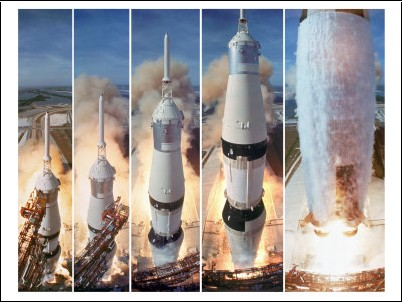 Nasa - Ventes aux enchères à Londres de photos  Ralph-morse-composite-5-frame-shot-of-gantry-retracting-while-saturn-v-boosters-lift-off-to-carry-apollo-11-n-3833690-0