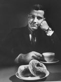 Local Man with Donuts and Coffee - Ralph Morse