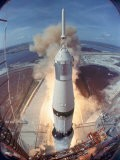 Saturn V Rocket Lifting the Apollo 11 Astronauts Towards Their Manned Mission to the Moon - Ralph Morse