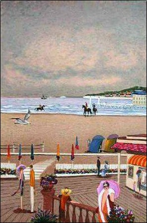 deauville bord de mer ramon dilley posters affiches d 39 art. Black Bedroom Furniture Sets. Home Design Ideas