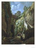 View in the Island of Capri, with Women Washing Clothes - Ramsay Richard Reinagle