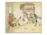 """""""A Frog He Would A-Wooing Go"""" 3 of 4 - Randolph Caldecott"""