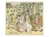Country Lads and Lasses Make Their Way to the Maypole - Randolph Caldecott