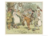 The May Queen is Honoured by Villagers with Garlands - Randolph Caldecott