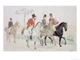 The Rivals, (Numbers One, Two and Three Cartoon Sketches) - Randolph Caldecott