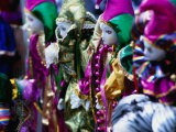 Dolls Decorated for Mardi Gras Carnival, New Orleans, Louisiana, USA - Ray Laskowitz
