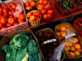 Farm Produce at a Local Farmers Market - Raymond Gehman