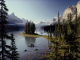 Maligne Lake, Which is the Largest and Deepest Lake in Jasper National Park - Raymond Gehman