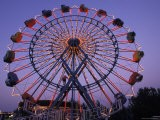 People Ride an Upsidedown Ferris Wheel in Wildwood, New Jersey - Richard Nowitz