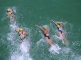 Competitors in the Henley and Grange Swimming Race - Robert Francis