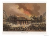 The Burning of the Palais Royal Paris Severely Damaged by the Communards - Sabatier