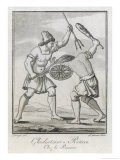 Two Roman Gladiators, One with Net and Trident His Opponent with Club and Shield - Saint-sauveur