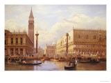 A View of the Piazzetta with the Doges Palace from the Bacino, Venice - Salomon Corrodi