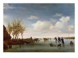 Dutch Landscape with Skaters - Salomon van Ruysdael