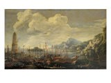 Harbour with Lighthouse and Ships - Salvator Rosa
