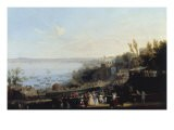The Opening Ceremony of the Railway Line from Naples to Portici, 1840 - Salvatore Fergola