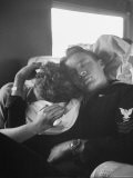 """Couple Sleeping While Travelling on the """"El Capitan"""" Train - Sam Shere"""