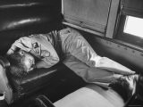 G.I. Sleeping During His Ride Aboard the Exposition Flyer - Sam Shere