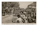 Surrender of Kroonstadt: Troops Marching Past Lord Roberts and Staff, from Sketch by Melton Prior - Samuel Begg