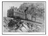 Troop Movements Soldiers Travel in an Armoured Train Along a Rocky Embankment Near Ladysmith - Samuel Begg