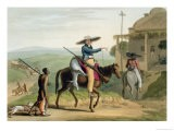 """Boors Returning from Hunting, Plate 11 from """"African Scenery and Animals"""" - Samuel Daniell"""