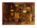 Gallery of the Louvre, 1831-33 - Samuel Finley Breese Morse